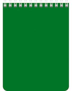 """Блокнот А6 60л.кл.гребень,карт.обл.HATBER, """"Зеленый"""" купить оптом и в розницу"""