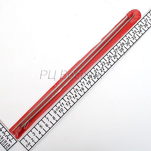 Спицы вязальные прямые стальные 4,0мм 35см купить оптом и в розницу