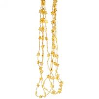 Бусы на ёлку золото 2,5м ″Звездочки″ d-14мм купить оптом и в розницу