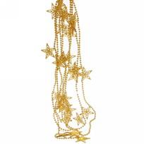 Бусы на ёлку золото 3м ″Звезды″ 4см купить оптом и в розницу
