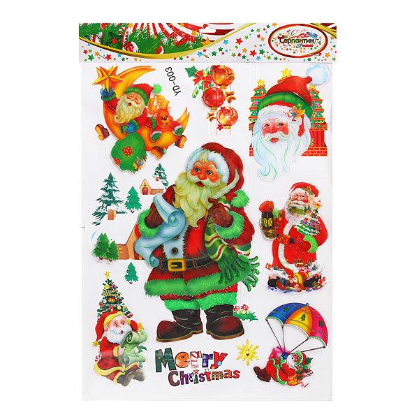 Наклейка декоративная 3D Новогодний праздник 44*29см YD-003 купить оптом и в розницу