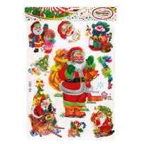 Наклейка декоративная 3D Новогодний праздник 44*29см YD-001 купить оптом и в розницу