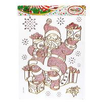 Наклейка на стекло 40*30см ″Дед Мороз″ SDA10022 купить оптом и в розницу
