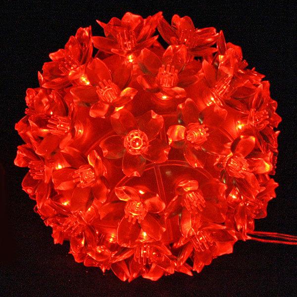 Светодиодный ″Шар″ 12см, 50 ламп LED, Красный купить оптом и в розницу