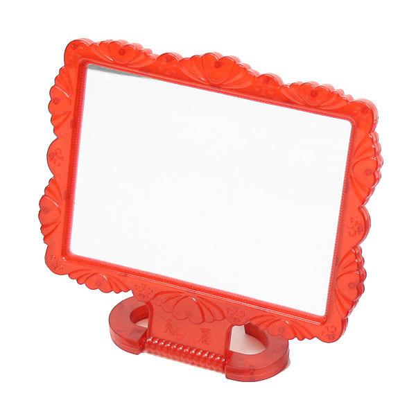 Зеркало настольное в пластиковой оправе ″Резная окантовка″ прямоугольник, подвесное 18*14,5см купить оптом и в розницу