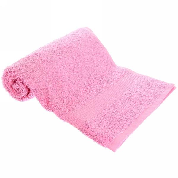 Махровое полотенце 50*90см светло-розовое ЭК90 Д01 купить оптом и в розницу