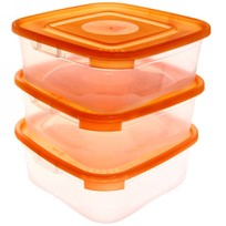 Набор контейнеров 3 шт ″Каскад-3″ 1,4л квадратный *18 купить оптом и в розницу
