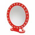 Зеркало настольное в пластиковой оправе ″Белые выемки″ Круг d=15см 988-1 купить оптом и в розницу