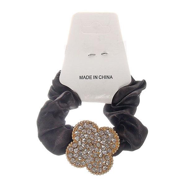 Резинка для волос 1шт ″Ноэль-цветок″, цвет черный купить оптом и в розницу