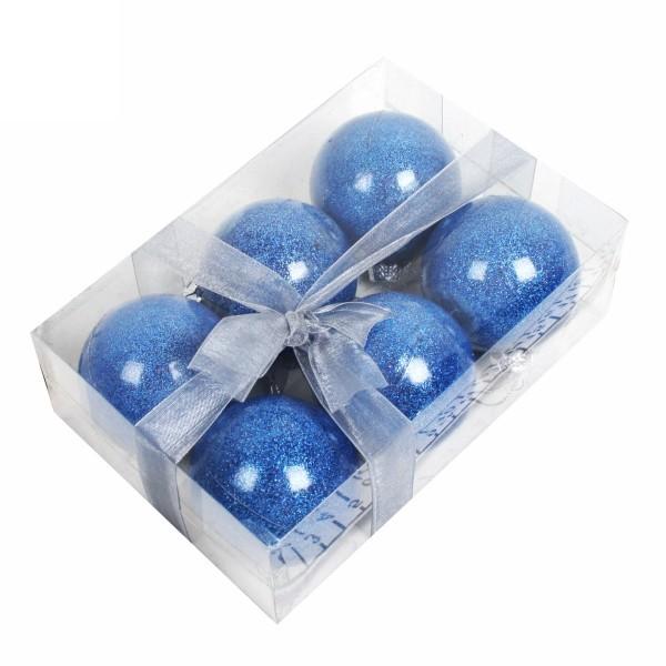 Новогодние шары ″Индиго″ 6см (набор 6шт.) купить оптом и в розницу