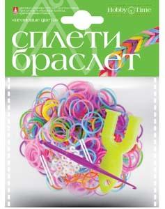 """Набор д/дет.творч.Плетение из резиночек """"Неоновые цвета"""" 300шт купить оптом и в розницу"""