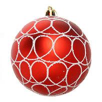 Новогодние шары ″Кружева на рубине″ 10см (набор 2шт.) купить оптом и в розницу