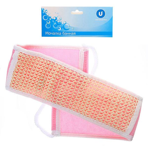 Мочалка для тела комбинированная ″В баньку″ с сизалем 68*8см купить оптом и в розницу