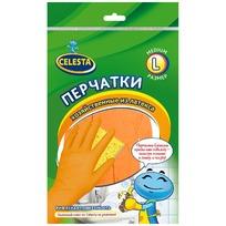 Перчатки хозяйственные латексные L (ЭКОНОМ) CELESTA купить оптом и в розницу