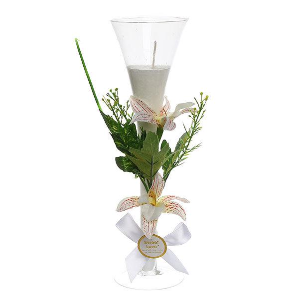 Свеча ″Орхидея Белая″ 25см ZH87 купить оптом и в розницу