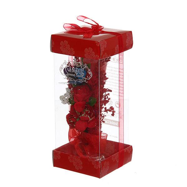Свеча в бокале ″Букет бордо″ 15 см купить оптом и в розницу