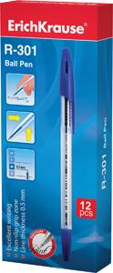 Ручка шар.Erich Krause R-301 1,0мм синяя инд.ш/к купить оптом и в розницу