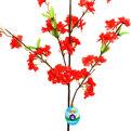 Цветок искусственный 115см ветка Цветущая вишня купить оптом и в розницу