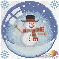 Набор ДТ Картина стразами Новогодний шарик со снеговиком АЖ-1258 купить оптом и в розницу