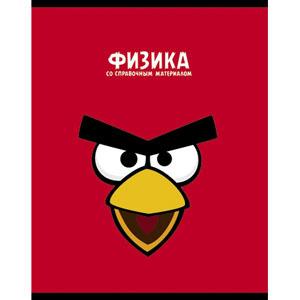 """Тетрадь 48л.кл.скрепка HATBER , """"Angry Birds Физика"""" купить оптом и в розницу"""