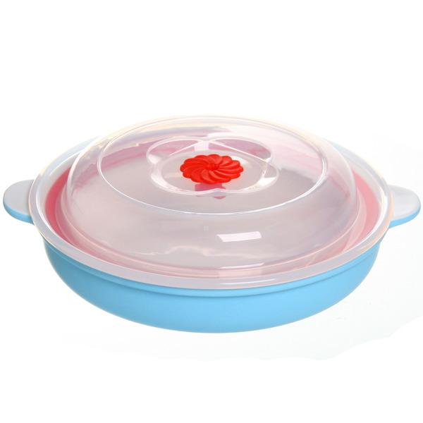 Набор салатников керамических 2шт с крышками ″Изабель″ 300,500мл голубой купить оптом и в розницу