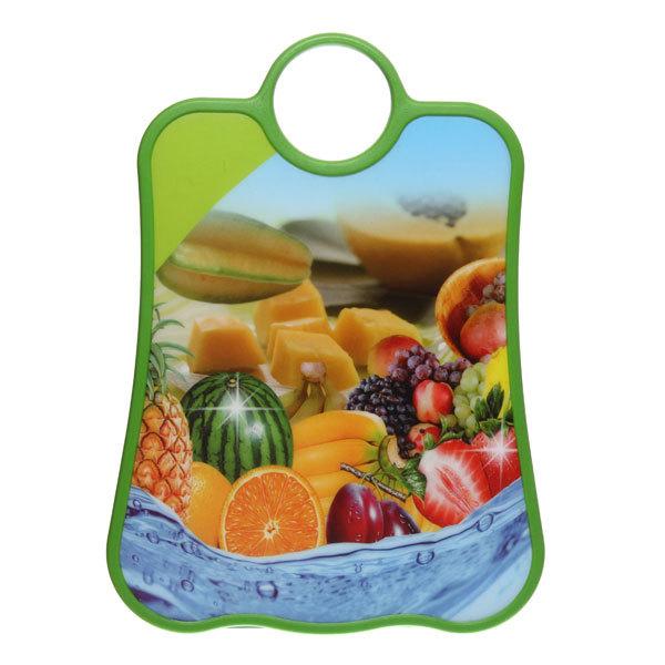 Доска разделочная пластиковая 37*27*1,2см ″Тропические фрукты″ купить оптом и в розницу