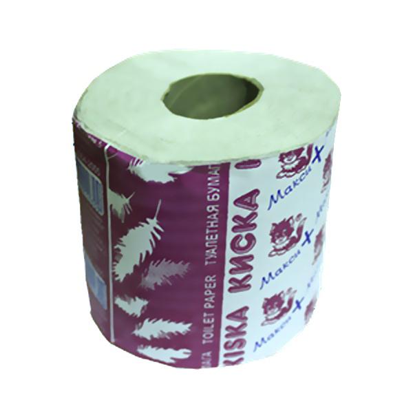 Бумага туалетная 1сл 1рул. ″Киска″ Макси+ со втулкой (32) купить оптом и в розницу