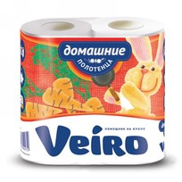 Полотенца бумажные 2сл. ″Linia Veiro″ Домашние 12,5м (3П22) купить оптом и в розницу