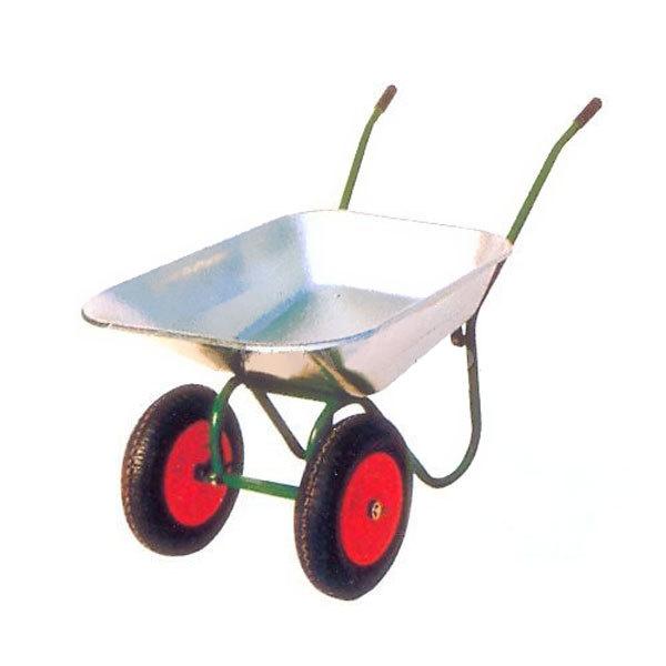 Тачка садовая WB6410 2х-кол. 65л(0,6мм)/130кг (3.50-8),пневмо купить оптом и в розницу