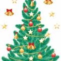 Наклейка декоративная ″Новогодняя елка″ L 47*67 см/1728422 купить оптом и в розницу
