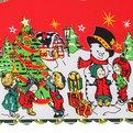 Скатерть 150*220см ″Новогодний калейдоскоп″ купить оптом и в розницу