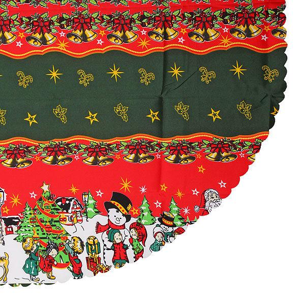 Скатерть круглая 150см ″Новогодний калейдоскоп″ купить оптом и в розницу