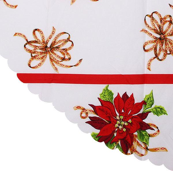 Скатерть ″Новогодний калейдоскоп″ круглая 150см 7 Серпантин купить оптом и в розницу