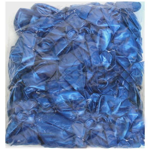 Воздушный шар 12″/30см (набор 100штук) Синий металлик, латекс купить оптом и в розницу
