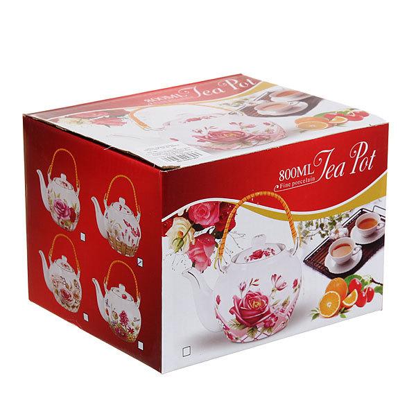 Чайник заварочный керамический 700 мл ″Тюльпаны″ купить оптом и в розницу