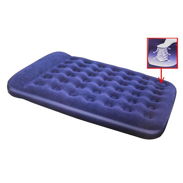 Матрас надувной Easy Inflate Flocked,191*137*22 см,встроенный ножной насос,Bestway (67225) купить оптом и в розницу