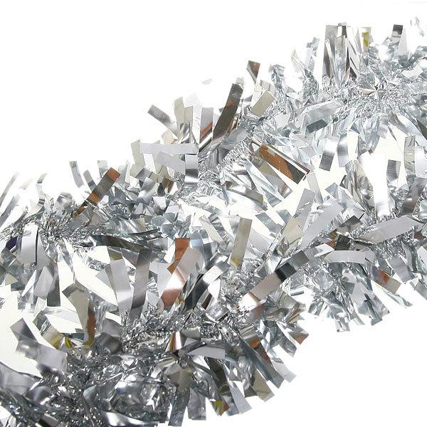 Мишура новогодняя 2 метра 10см ″Волшебство″ серебро купить оптом и в розницу