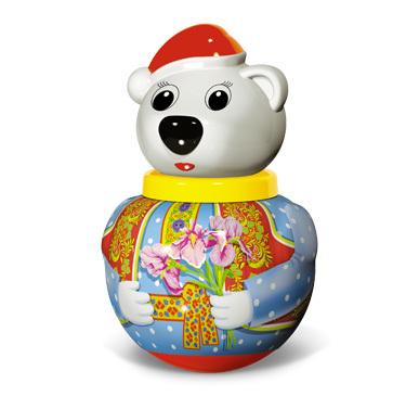 Неваляшка Белый медведь Тема мал. 01738 /12/ купить оптом и в розницу