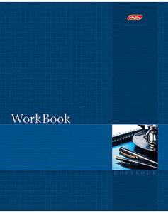 """Тетрадь 96л.кл.сшивка HATBER, """"WorkBook"""", синяя, тиснение купить оптом и в розницу"""