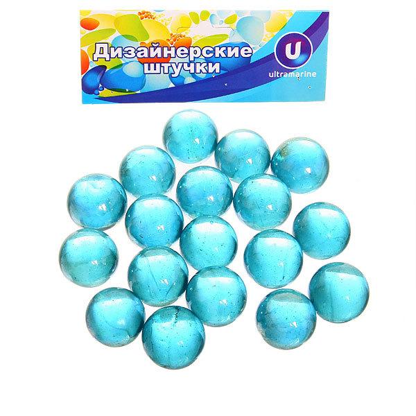 Украшение декоративное стеклянные шарики для дизайна ″Бирюзовая фантазия″ 100гр d16 купить оптом и в розницу