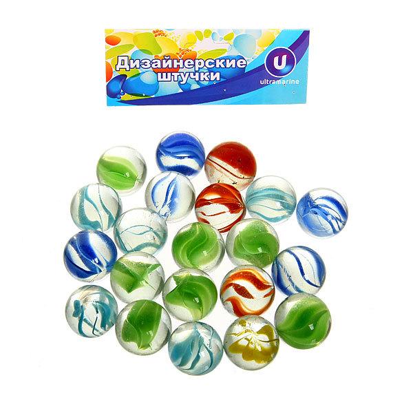 Украшение декоративное стеклянные шарики для дизайна ″Радуга″ 100гр d16 купить оптом и в розницу