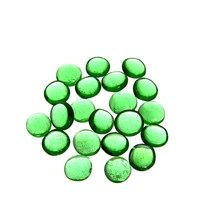 Украшение декоративное стеклянные шарики для дизайна ″Зеленые кристаллы″ 100гр 17-19 купить оптом и в розницу