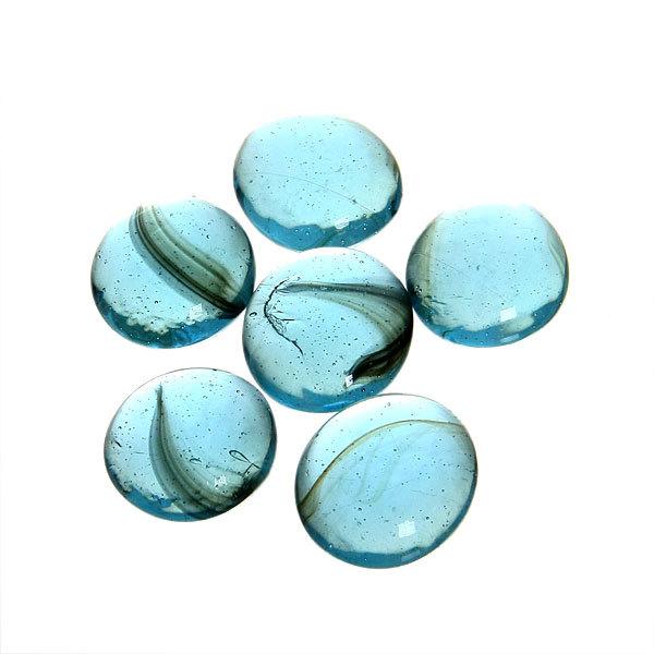 Украшение декоративное стеклянные шарики для дизайна ″Бирюзовые кристаллы″ 100гр 17-19 купить оптом и в розницу