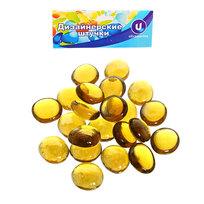 Украшение декоративное стеклянные шарики для дизайна ″Янтарные кристаллы″ 100гр 17-19 купить оптом и в розницу