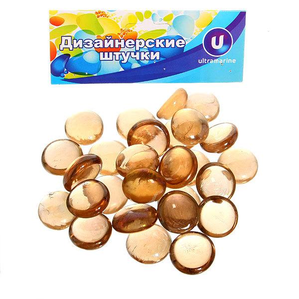 Украшение декоративное стеклянные шарики для дизайна ″Медовые кристаллы″ 100гр 17-19 купить оптом и в розницу