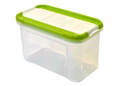 Банка для сыпучих продуктов с дозатором Krupa 0,75 л оливковый*21 купить оптом и в розницу