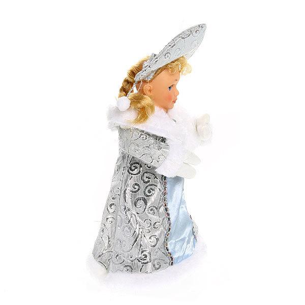 Снегурочка музыкальная 30см в белых варежках купить оптом и в розницу