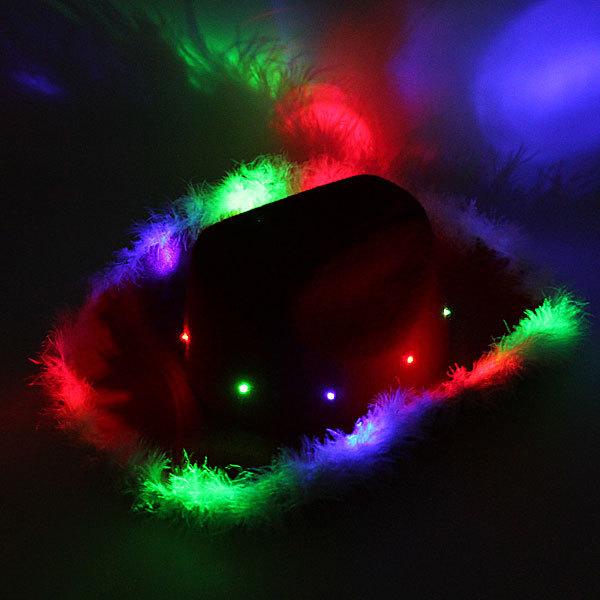 Шляпа карнавальная ″Ковбой″ светодиодная купить оптом и в розницу