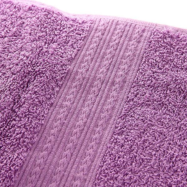 Махровое полотенце 50*90см сиреневое ЭК90 Д01 купить оптом и в розницу