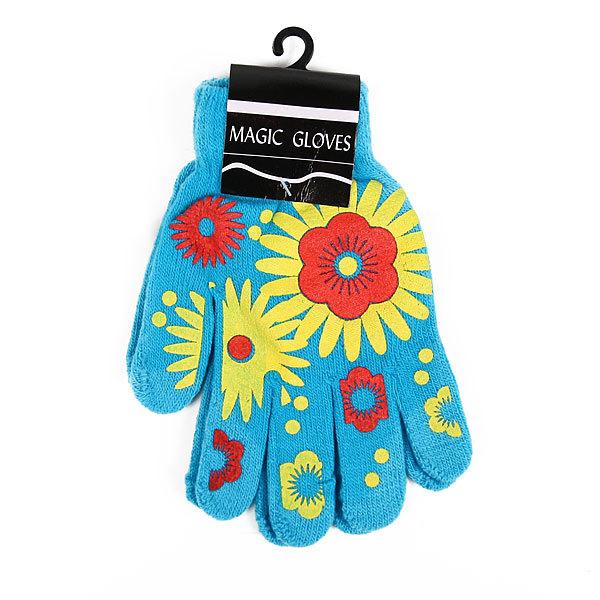 Перчатки молодежные ″Цветы″ цвет в ассортименте h-16см купить оптом и в розницу